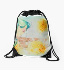Fen's Art World Teal Drawstring Bag