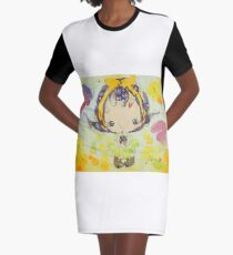 Fen's Art World Yellow & Purple Graphic T-Shirt Dress