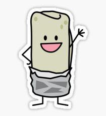 Happy Burrito Waving Hello Sticker