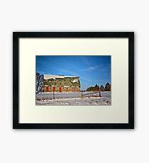 Empty Butler Barn Framed Print