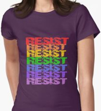 Rainbow Resist Womens Fitted T-Shirt