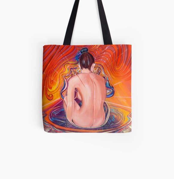 Acupuncture Energy All Over Print Tote Bag