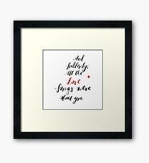 Valentines Day Framed Print