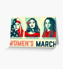 women's march official 2017 Greeting Card