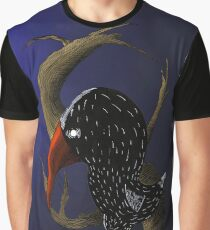 Creepy - Crow in the Night Graphic T-Shirt