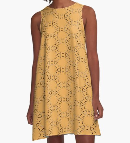 Faded Gold by Julie Everhart A-Line Dress