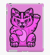 Lucky Cat - Fierce Pink Pussy Cat T-Shirt iPad Case/Skin
