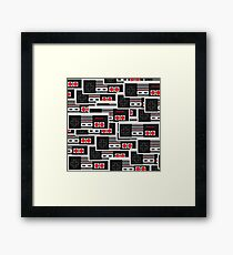 NES Controllers Framed Print