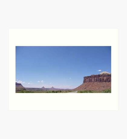 Approaching Canyonlands from Indian Creek Art Print