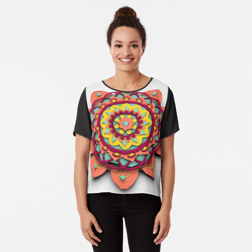 Mandala 3D Lowpoly Blusa