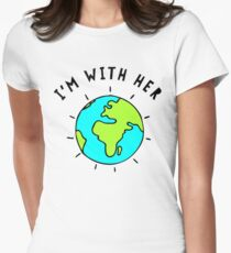 I'm With Her, Earth T-Shirt