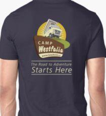 Camp Westfalia logo, large, back Unisex T-Shirt