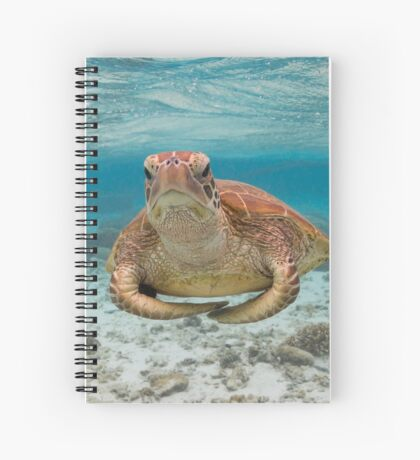 Turtle yoga pose Spiral Notebook