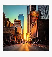 Elm Street Sunset, Dallas Photographic Print