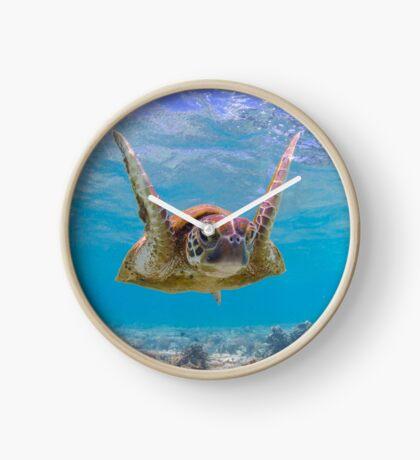 Joyful turtle - print Clock