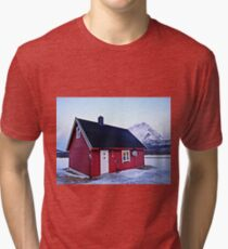 Snow Cabin Day Tri-blend T-Shirt