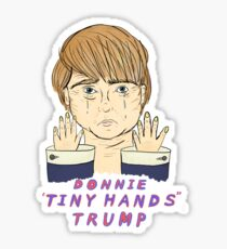 """Donnie """"Tiny Hands"""" Trump - to benefit the ACLU Sticker"""