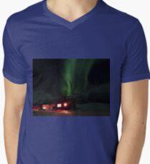 Cosy Cabin Northern Lights Mens V-Neck T-Shirt