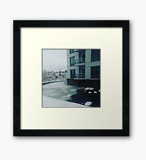 Water/Ice Framed Print