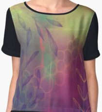 A Burst of Abstract Chiffon Top