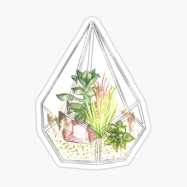 Glass Terrarium Sticker