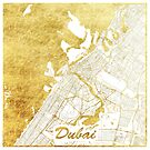 Dubai Karte Gold von HubertRoguski