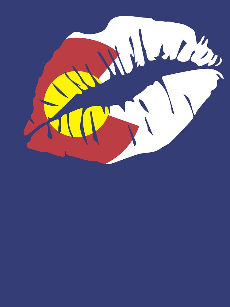 Colorado Flag Lips Graphic T-Shirt by np0341