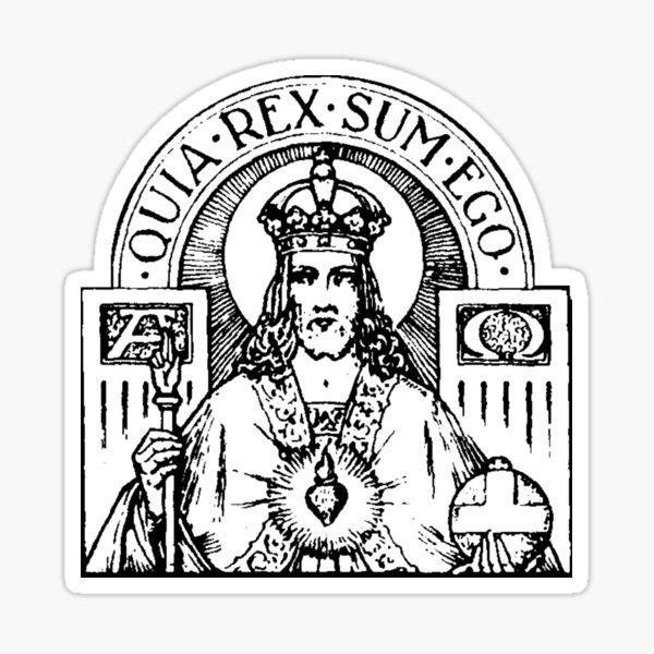 Sacred Heart of Jesus - white bkg Sticker