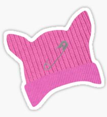 Pink Pussy Knit Hat Sticker