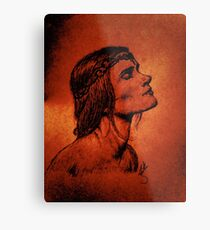 A Woman Born from Fire Metal Print