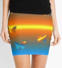 Horizon Butterflies  Mini Skirt