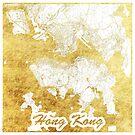 Hongkong Karte Gold von HubertRoguski