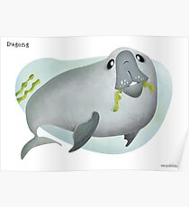 Dugong caricature Poster
