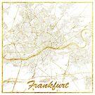 Frankfurt Karte Gold von HubertRoguski