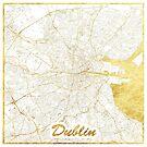 Dublin Karte Gold von HubertRoguski