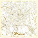 Mailand Karte Gold von HubertRoguski