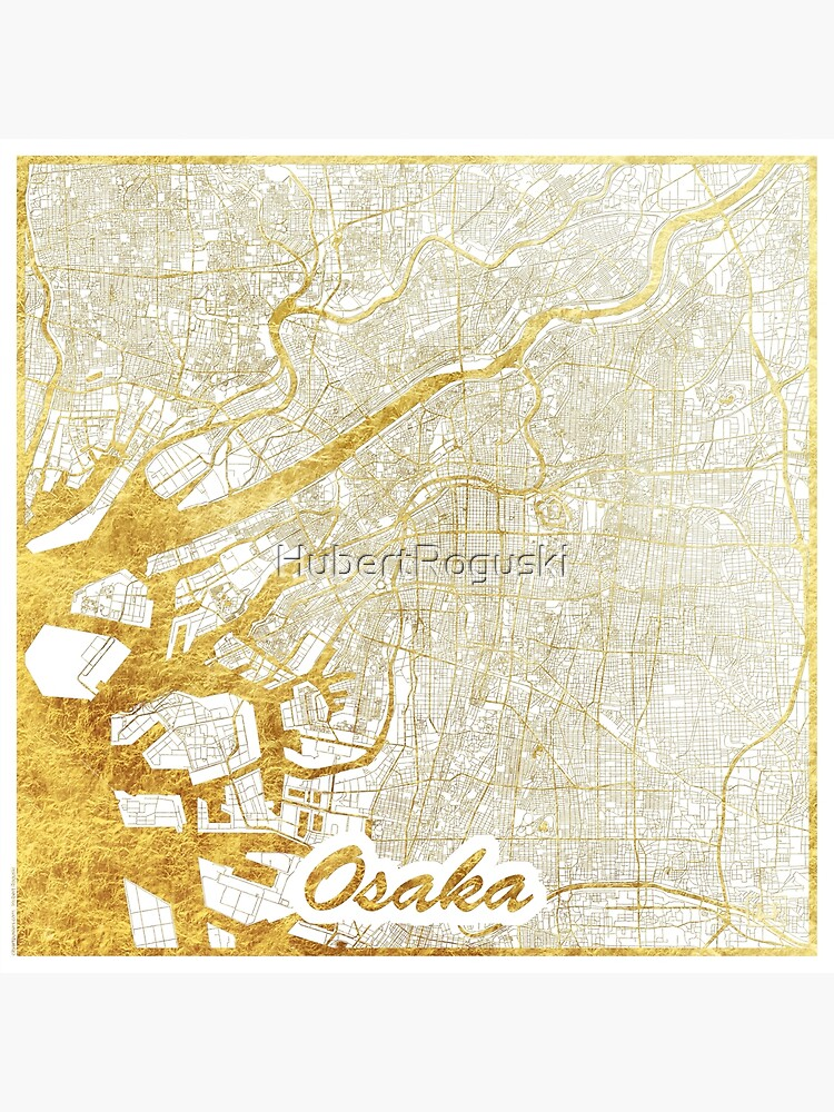 Osaka Map Gold by HubertRoguski