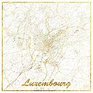 Luxemburg Karte Gold von HubertRoguski