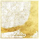 Lissabon Karte Gold von HubertRoguski