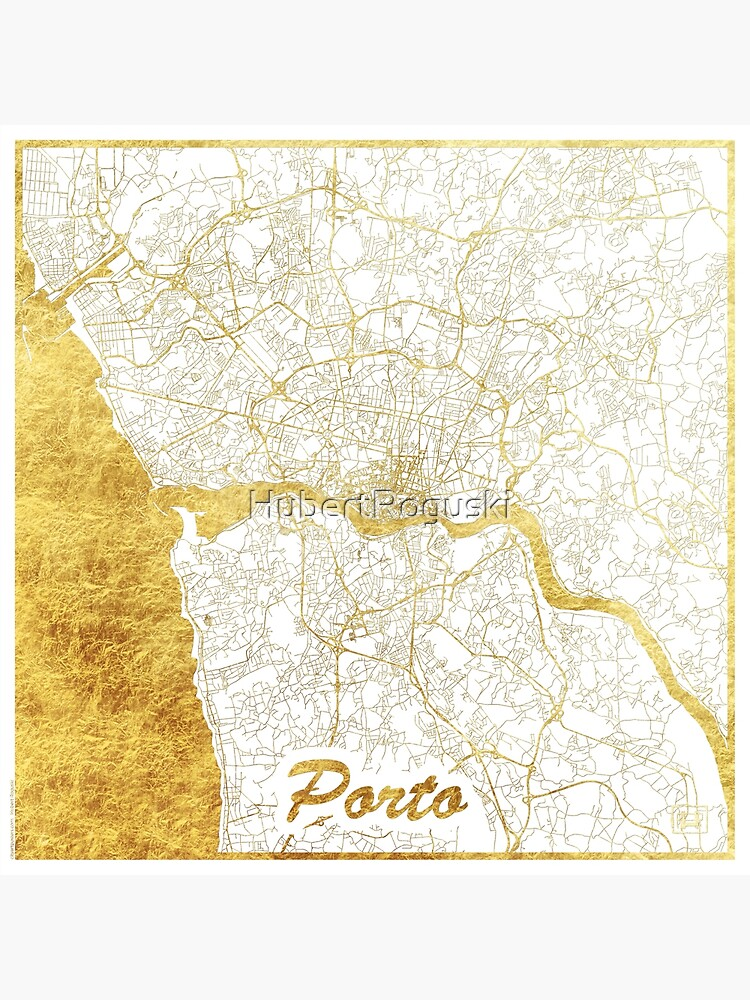 Porto Map Gold by HubertRoguski