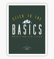 Stick To The Basics [Brazil Colors] - Jiu-Jitsu Motivational Supply Co. Sticker