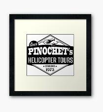 Pinochet's Helicopter Tours Framed Print