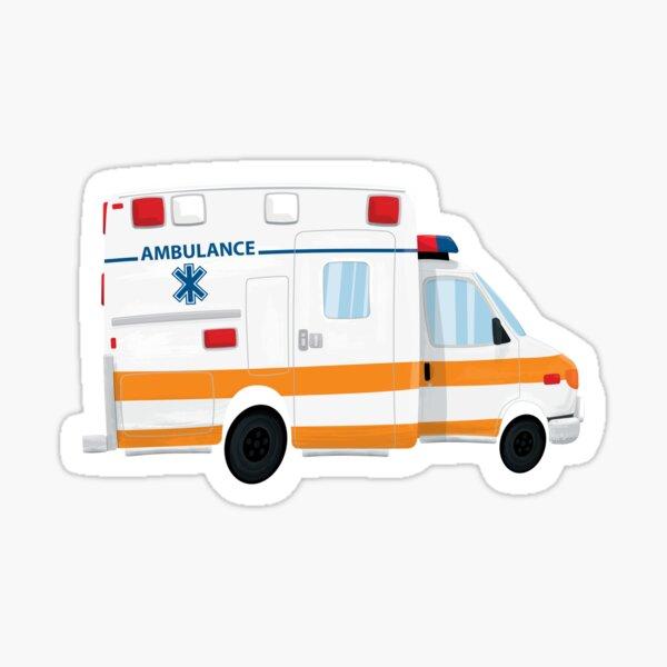 Cute Ambulance Sticker Sticker