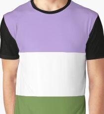Nonbinary Pride Flag Shirt Graphic T-Shirt