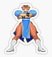 Street Fighter - Chun Li Win Pose Sticker