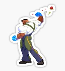 Street Fighter - Dudley Rose Toss Sticker