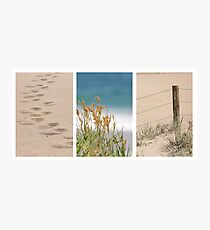 By the Beach Triptych Photographic Print