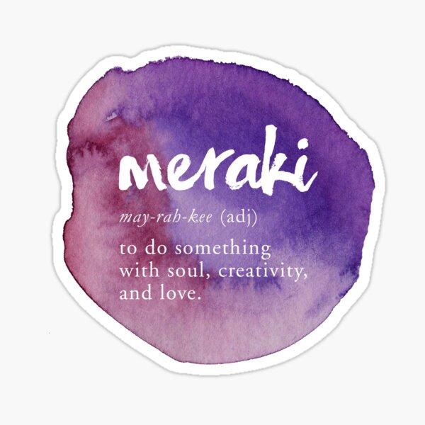 Meraki Creative Definition - Purple Watercolor Sticker