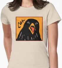 Caw! Womens Fitted T-Shirt