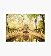 Paris - Fountain - Garden of Luxembourg Art Print